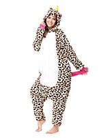 Кигуруми Пижамы Unicorn трико/Комбинезон-пижама Фестиваль / праздник Нижнее и ночное белье животных Хэллоуин Коричневый Животное Леопард