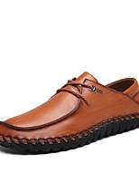 Men's Oxfords Moccasin Driving Shoes Comfort Fall Winter Real Leather Oxford PU Cowhide Leather Casual Office & Career Flat Heel Light