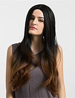 жен. Парики из искусственных волос Без шапочки-основы Длиный Очень длинный Естественные волны Темно-коричневый / Medium Auburn Волосы с