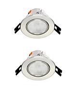 2pcs 4w encastré conduit spot lumière celing lumière chaud blanc / blanc ac220v taille trou 75mm