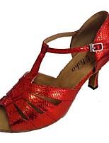 Mujer Latino Sintético Sandalia Interior Tacón Personalizado Bronce Gris Negro y Oro Plateado Rojo
