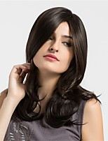 Women Synthetic Wig Capless Medium Natural Wave Dark Brown/Medium Auburn African American Wig Natural Wigs Costume Wigss