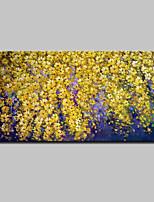 Ручная роспись Цветочные мотивы/ботанический Горизонтальная,Абстракция Modern 1 панель Холст Hang-роспись маслом For Украшение дома