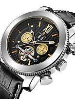 Hombre Niños Reloj Deportivo Reloj Militar El reloj mecánico Japonés Cuerda Automática Cronógrafo Resistente al Agua Huecograbado Tres