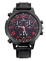 Hombre Reloj Deportivo Reloj de Pulsera Reloj Casual Cuarzo / Silicona Caucho Banda Cosecha Casual Negro