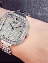 Жен. Модные часы Часы со стразами Кварцевый Защита от влаги С гравировкой сплав Группа Серебристый металл Золотистый