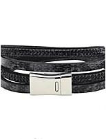 Homme Femme Bracelets en cuir Bracelets de tennis Zircon Pierre Personnalisé Zircon Cuir Forme de Cercle Bijoux Pour Scène Plein Air
