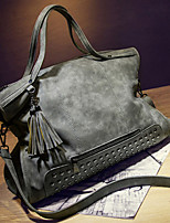 Women Bags All Seasons Suede Tote with Rivet for Outdoor Office & Career Black Gray