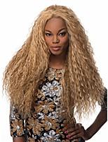 Mujer Pelucas sintéticas Sin Tapa Largo Rizado Rubio fresa Peluca afroamericana Peluca de cosplay Peluca natural Peluca de fiesta Peluca
