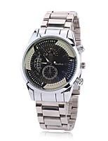 Men's Dress Watch Fashion Watch Wrist watch Chinese Quartz Imitation Diamond Alloy Band Charm Elegant Casual Silver