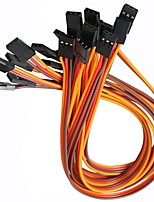 3Pin 20mm Servo Cables Male to Male (10 Pack)