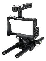 andoer cámara de vídeo profesional kit de plataforma de fabricación de sistema con barra de 15 mm para sony a6000 a6300 a6500 ildc