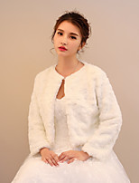 Women's Wrap Shrugs Faux Fur Lace Wedding Party/ Evening Printing Ruching