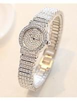 Жен. Модные часы Часы со стразами Кварцевый Защита от влаги С гравировкой сплав Группа Серебристый металл Золотистый Розовое золото