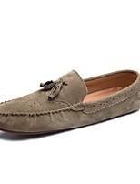 Для мужчин Мокасины и Свитер Удобная обувь Мокасины Обувь для дайвинга Весна Осень Искусственное волокно Повседневные На плоской подошве