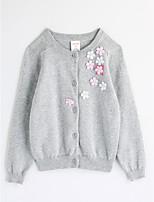Girls' Flower Blouse,Cotton Fall Long Sleeve