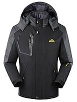 Men's Cycling Jacket Windproof Rain-Proof Waterproof Zipper Wearable Breathability Waterproof Full Length Visible Zipper Winter Jacket Top