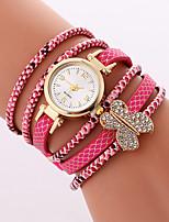 Жен. Модные часы Часы-браслет Кварцевый PU Группа Cool Повседневная Черный Белый Роуз