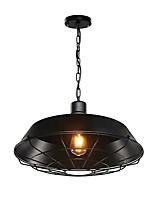 1-Lights Pendant Light Vintage Industrial Pendant light Country Style Mini Chandelier for Dining Room Diameter 46cm