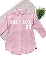 Girls' Cartoon Trench Coat,Cotton Acrylic Spring Fall Long Sleeve