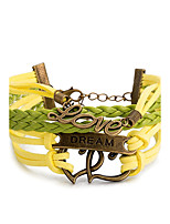 Men's Women's Wrap Bracelet Bracelet Jewelry Fashion Punk Rock Multi Layer Leather Alloy Heart Jewelry Jewelry For Stage Street Christmas