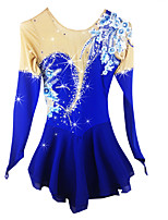 Ice Skating Dress Women's Long Sleeves Ice Skating Skating Skate Ice Skate Winter Sports Skirts & Dresses Dresses High Elasticity Figure