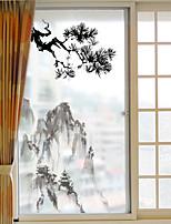Art Deco Window Sticker,PVC/Vinyl Material Window Decoration