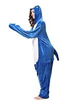 Кигуруми Пижамы Shark трико/Комбинезон-пижама Фестиваль / праздник Нижнее и ночное белье животных Хэллоуин Синий Животное Кигуруми Для