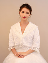 Women's Wrap Shrugs Faux Fur Lace Wedding Party/ Evening Ruching
