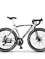 Cruiser Bike Cycling 14 Speed 26 Inch/700CC SHIMANO Disc Brake Non-Damping Aluminium Alloy Frame Anti-slip Aluminum Alloy