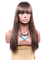 Women Synthetic Wig Capless Long Straight Brown For Black Women With Bangs Lolita Wig Party Wig Halloween Wig Carnival Wig Cosplay Wig