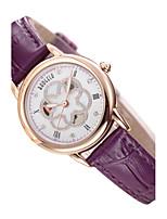 Жен. Модные часы Кварцевый Натуральная кожа Группа Белый Красный Фиолетовый