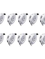 3w LED Downlights Warm White 10 pcs 85-265v