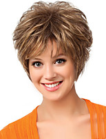 Women Synthetic Wig Capless Short Natural Wave Brown Natural Wigs Costume Wigss