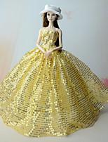 Vestidos Vestidos por Muñeca Barbie  Vestidos por Chica de muñeca de juguete