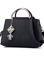 Women Bags All Seasons PU Tote with Rivet for Formal Office & Career Black Blushing Pink Military Green Gray Purple