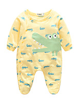 Baby Animal One-Pieces,100%Cotton Spring/Fall Long Sleeve