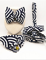 Collar Leash Portable Breathable Adjustable Safety Stripe Fabric