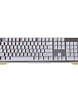 JamesDonkey 619 Mechanical Keyboard 104 Keys for Gaming Black Axis LED Backlight