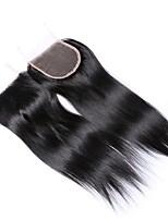 8 дюймов 4 * 4 верхняя часть шнурка 100% бразильская фабрика оптовой продажи фабрики человеческих волос оптовая продажа # 1b естественная