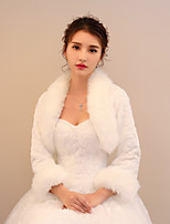 Women's Wrap Shrugs Faux Fur Wedding Party/ Evening Pattern / Print Ruching