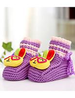 Дети обувь Орлон Хлопок Весна Осень Удобная обувь Обувь для малышей На плокой подошве Назначение Повседневные Лиловый Желтый Пурпурный