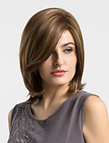Women Synthetic Wig Capless Medium Natural Wave Brown Highlighted/Balayage Hair Natural Wigs Costume Wigss