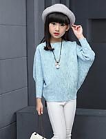 Girls' Solid Print Blouse,Rayon Spring Fall Long Sleeve Regular