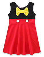 Girl's Birthday Casual/Daily Going out Solid Patchwork DressCotton Summer Fall Sleeveless