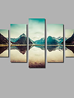 New Arrival Modern Home Wall Art Decoration Painting on Canvas Scenery Mountain & Lake Posters HD Printed Sunset Photos For Livingroom Background