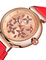 Жен. Модные часы Кварцевый Кожа Группа Белый Красный Коричневый