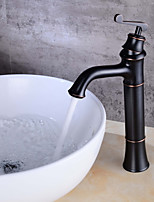 Centerset Clawfoot with  Ceramic Valve Single Handle One Hole for  Oil-rubbed Bronze , Bathroom Sink Faucet
