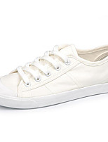 Women's Sneakers Comfort Spring Summer Canvas Casual Gray White Flat