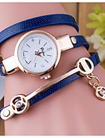 Жен. Часы-браслет Кварцевый Натуральная кожа Группа Кольцеобразный Черный Синий Красный Оранжевый Коричневый Зеленый